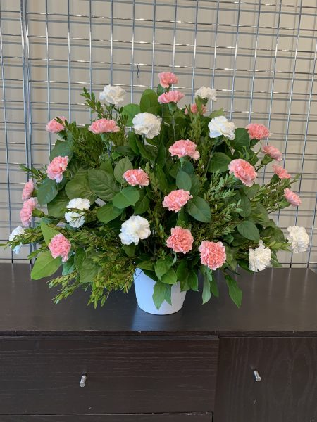Boutique Funeral Carnation 30 pink white