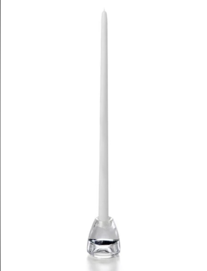 """Candle Taper White 18"""""""