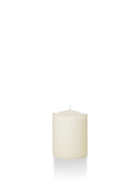 "Candle Pillar Ivory 2.25""X3"""