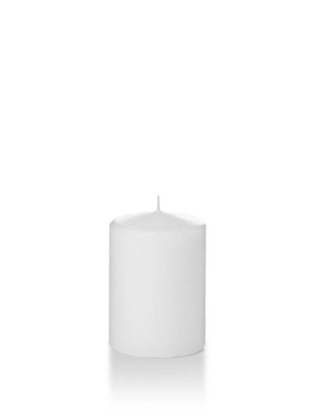 "Candle Pillar White 2.8""X4"""