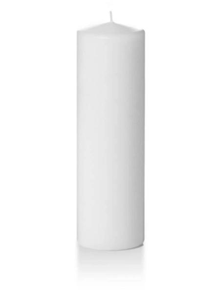 "Candle Pillar White 2.8""X10"""