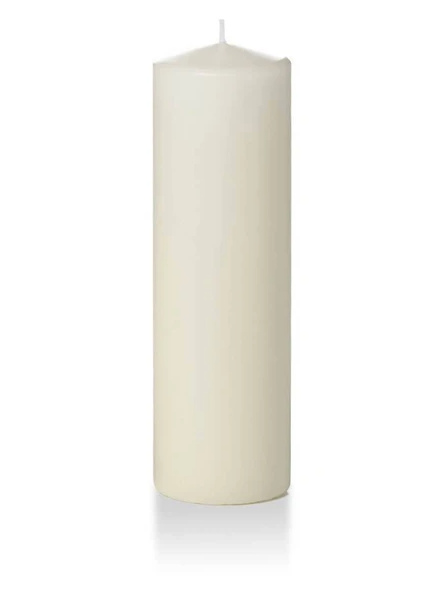 "Candle Pillar Ivory 2.8""X10"""